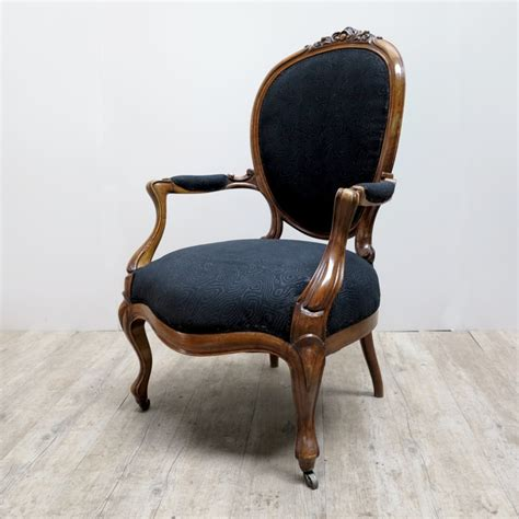 Upholster Armchair by Armchair With Black Upholstery 1880s For Sale At Pamono