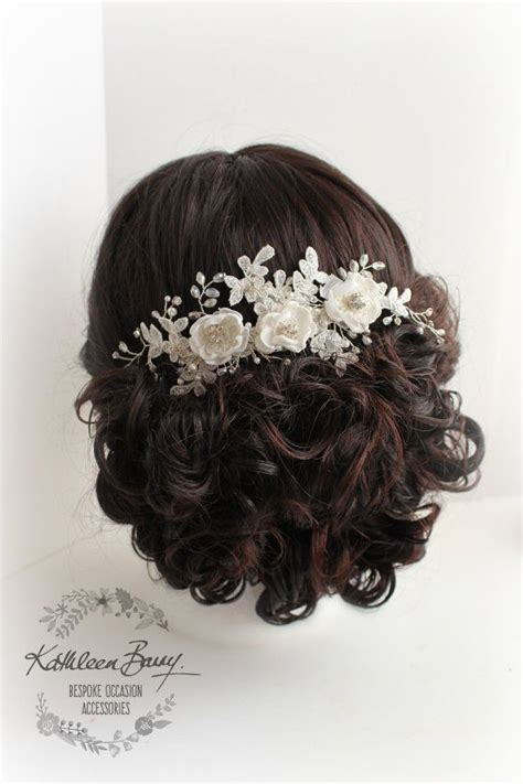 Wedding Hair Accessories Hshire by R780 Floral Lace Bridal Hair Comb Veil Comb Handmade