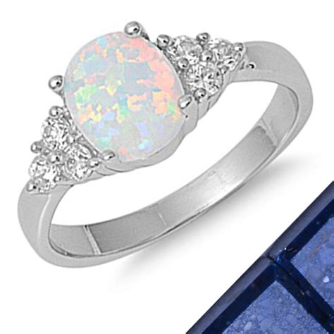 best sell white australian opal topaz 925 sterling