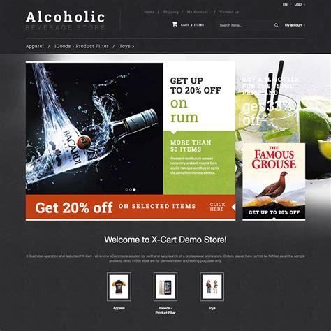 Alcoholic Beverage X Cart Template 63404 X Cart Templates