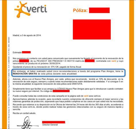 verti seguros oficina internet vendo renovaci 243 n gratis con verti te puede interesar