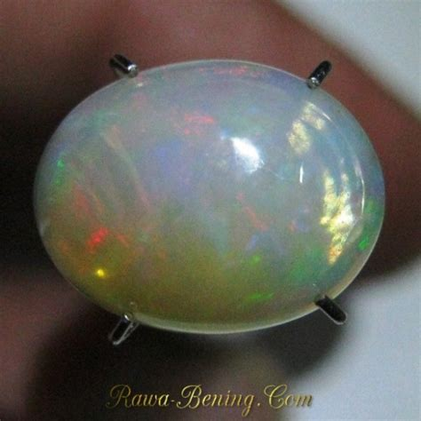Cincin Blue Opal Pelangi Jumbo jual batu mulia opal jarong pelangi 2 35 carat cabcochon