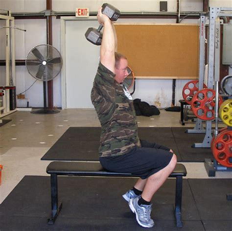 critical bench exercises overhead dumbbell extensions exercise