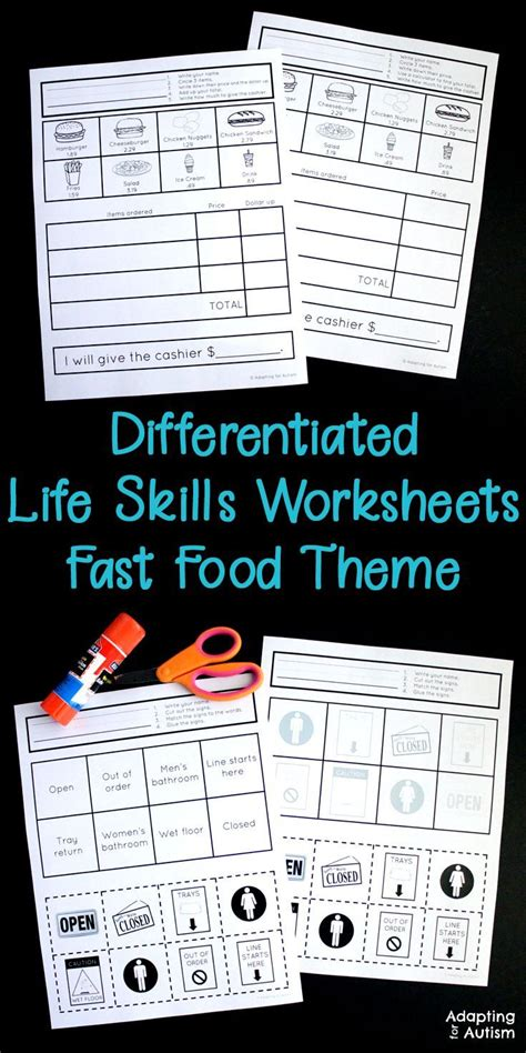 skills worksheets for special education and autism