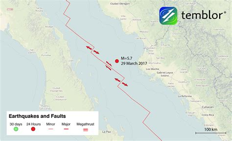 where is the gulf of california located on a map gulf of california fault map temblor net