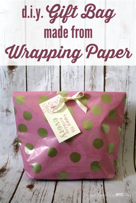 How To Make A Bag From Wrapping Paper - how to make a gift bag from wrapping paper designer trapped