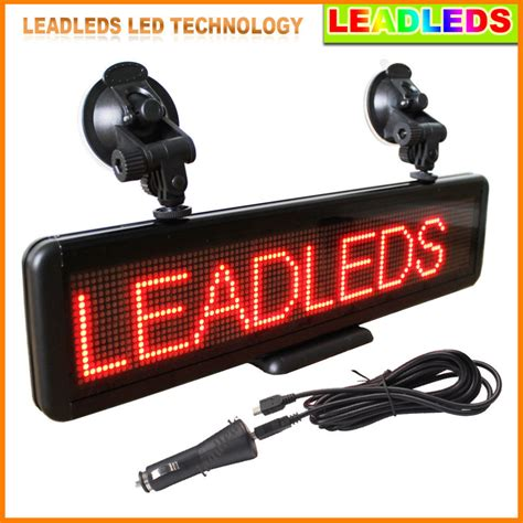 Car Led The Messenger Sign Progammable Display Board Papan Pesan Mobil 16 64 Dots Moving Message Display Programmable Led Sign Board For Car Advertising In Led