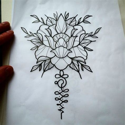 lotus karma tattoo unalome with lotus one of my favorites 꽃 pinterest 꽃
