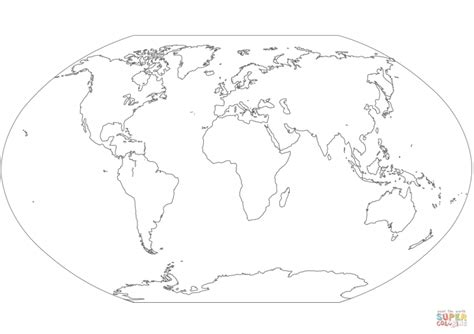 world map with country names coloring page an outline world map with automatic colouring of countries