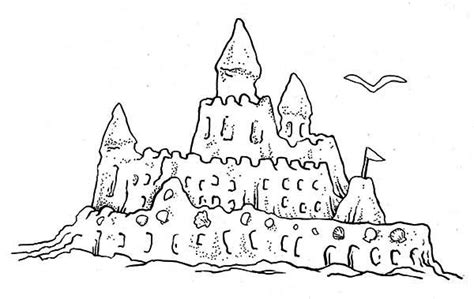 Drawn Shell Sandcastle Pencil And In Color Drawn Shell Sand Castle Coloring Pages