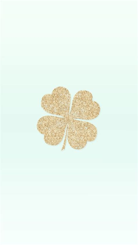 Glitter Wallpaper Partick | gold sparkle glitter four leaf clover free st patty s