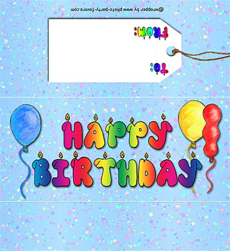 free birthday wrapper template free printable happy birthday bar wrapper ready to