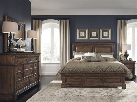barcelona brown panel bedroom set from samuel lawrence