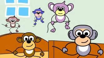Five Little Monkeys Jumping On The Bed Lyrics Five Little Monkeys Nursery Rhymes Popular Nursery
