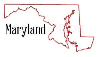 Maryland State Outline Map by Outline Map Of The State Of Maryland Stock Vector Colourbox