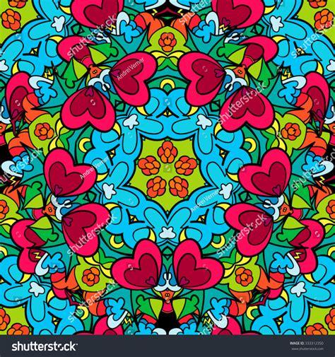 hippie vector pattern 60s hippie psychedelic art seamless pattern vector
