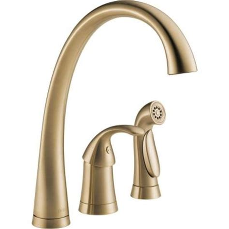 delta pilar kitchen faucet delta pilar waterfall single handle side sprayer kitchen