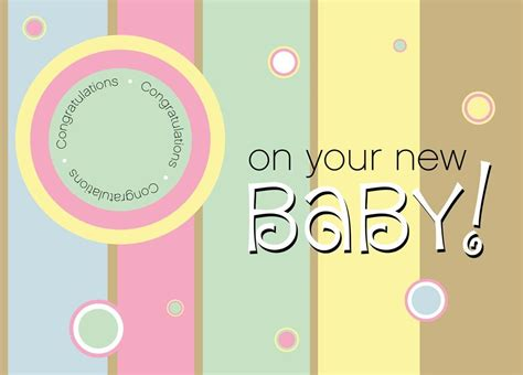 Congratulations On Your New Baby Card Templates by New Baby Value Card Congratulations Card