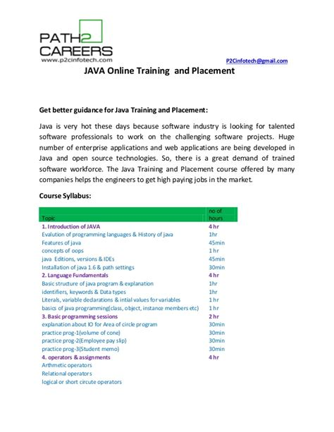 online tutorial in java online training java online training