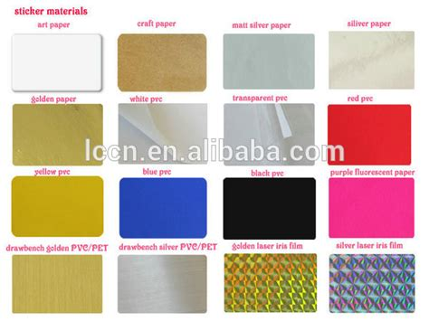 Sticker Printing Paper Types   custom logo printed adhesive foil labels silver foil roll