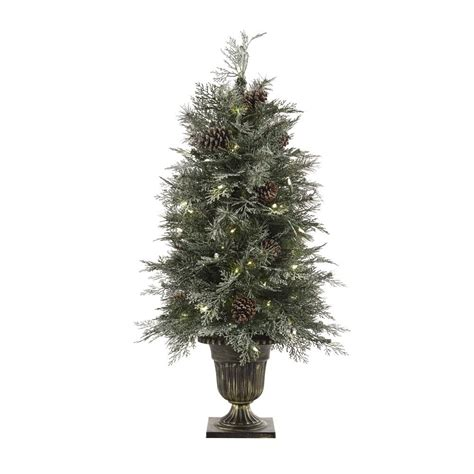 martha stewart living 9 ft indoor pre lit glittery bristle pine artificial christmas tree martha stewart living 6 ft pre lit led snowy white artificial tree 9773300410 the