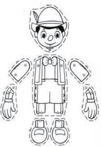 dibujos colorear recortar marionetas