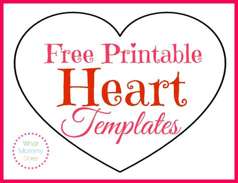 heart pattern free printable printable heart shapes tiny small medium outlines