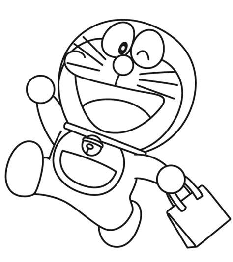 belajar mewarnai untuk anak gambar doraemon kucing kartun yang lucu