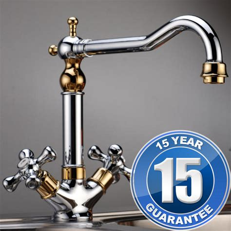 Traditional Taps Kitchen by Traditional Gold Chrome Handle Swivel Spout Kitchen