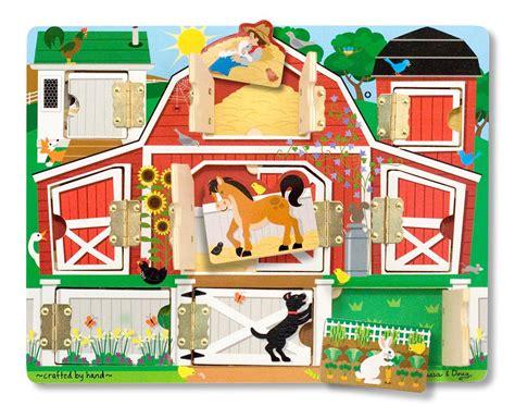 amazon toys amazon com melissa doug magnetic farm hide and seek