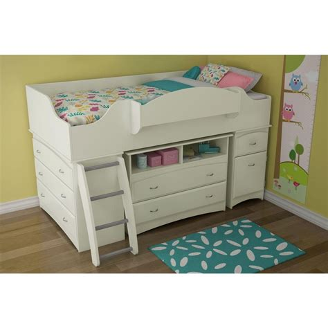 youth loft beds south shore imagine twin wood kids loft bed 3560a3 the
