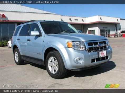 2008 ford escape light light blue 2008 ford escape hybrid camel interior