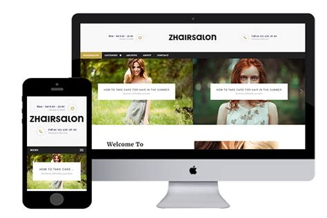 Zhairsalon Free Responsive Html5 Template Zerotheme Spa Responsive Website Template Free