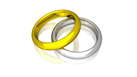 3d animated wedding rings in hd1080 stock footage
