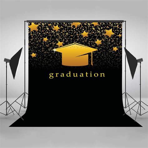 vinyl graduation party golden star photo backdrop  photography kid students background