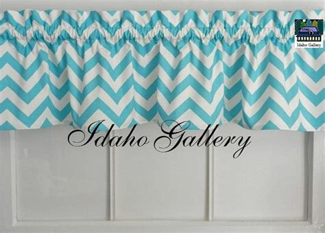chevron valance curtains chevron girly blue and white short curtain valance 11