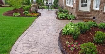 walkway ideas concrete sidewalk design decorative options for a