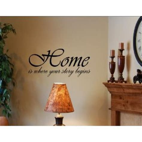 sayings for wall decor home is where your story begins vinyl wall