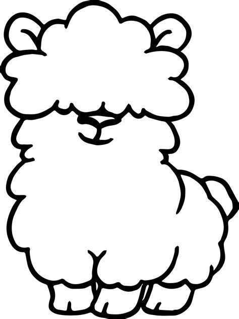 alpaca cute coloring page wecoloringpage