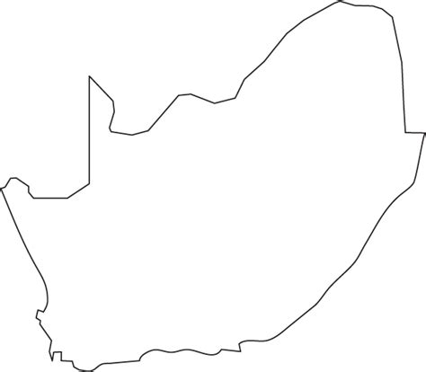 south africa map outline south africa outline map
