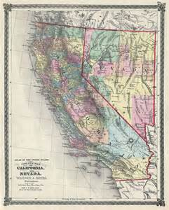 us map nevada california atlas of the united states county map of california and