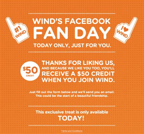 wind mobile canada wind mobile fan day free credit canada