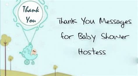 thank you messages for baby shower hostess