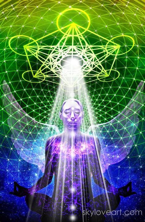metatrons cube geometry art visionary art sacred art