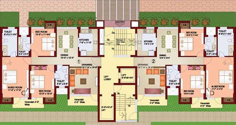 2 unit apartment building plans 2 unit apartment floor plans