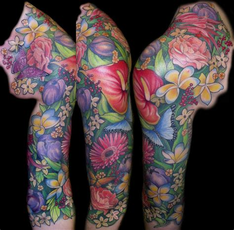 half sleeve flower tattoo designs flower sleevehelenasaurus