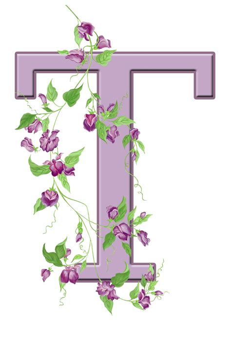 Inisial A letter t floral initial free stock photo domain