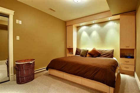 deluxe design comfortable basement bedroom decosee