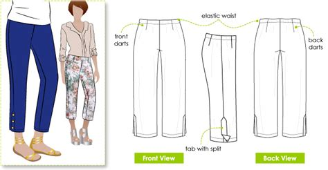 cropping pattern review of literature stylearc tori crop pant