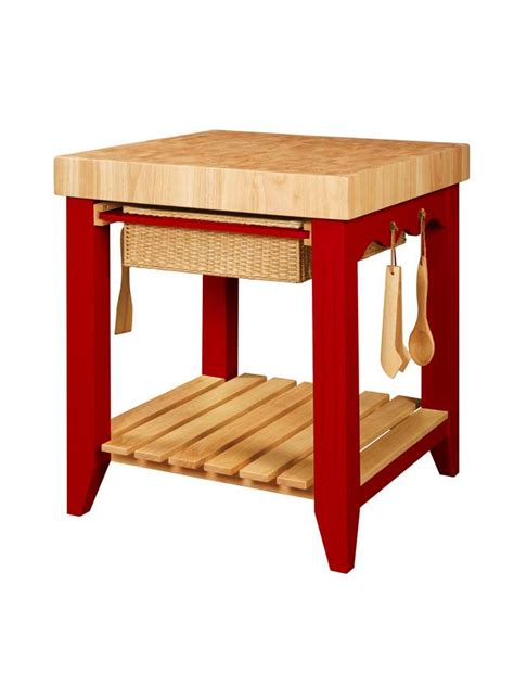 powell kitchen island powell color story crimson red butcher block kitchen island